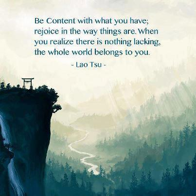 Lao Tzu Be Content with What You Have Quote